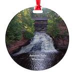 Lower Amnicon Falls Round Ornament