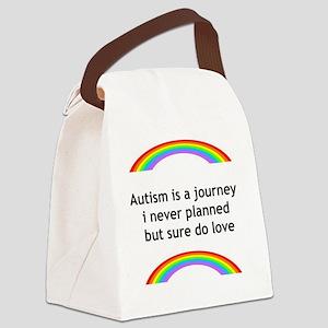 Autism Rainbow Canvas Lunch Bag