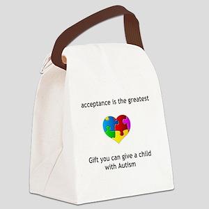 Autism Heart Canvas Lunch Bag