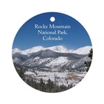 Rocky Mountain National Park Round Ornament