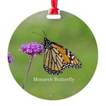 Monarch Butterfly Round Ornament
