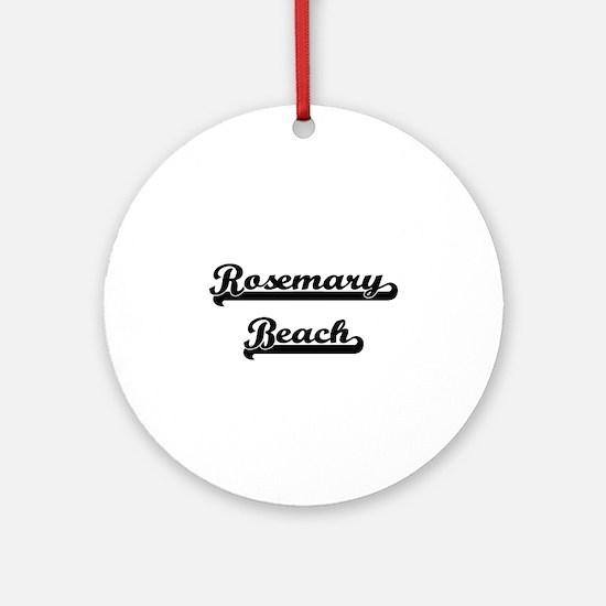 Rosemary Beach Classic Retro Desi Ornament (Round)