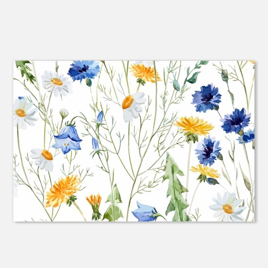 Cute Yellow daisy Postcards (Package of 8)