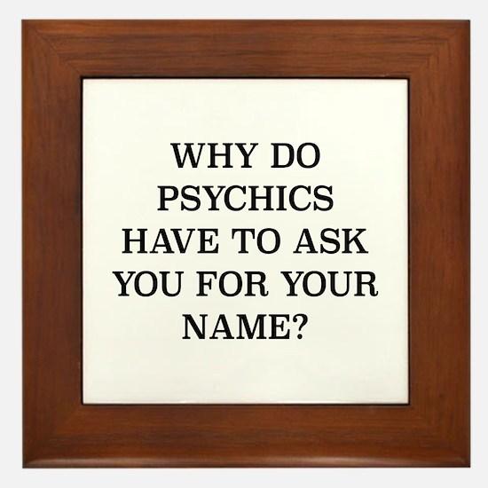 Why Do Psychics Framed Tile