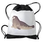 Walrus Drawstring Bag
