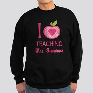 I Love Teaching personalized apple Sweatshirt