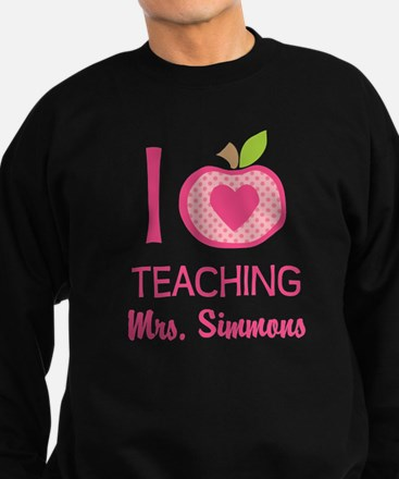 I Love Teaching personalized apple Jumper Sweater