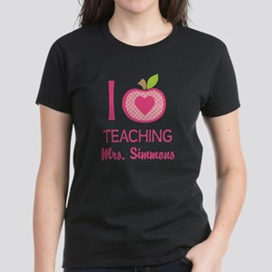 I Love Teaching personalized apple T-Shirt
