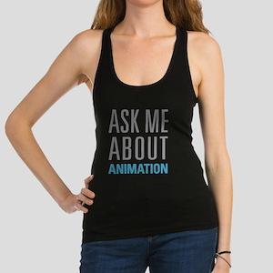 Ask Me Animation Racerback Tank Top