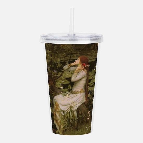 Ophelia by JW Waterhou Acrylic Double-wall Tumbler