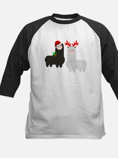 christmas reindeer alpacas Baseball Jersey
