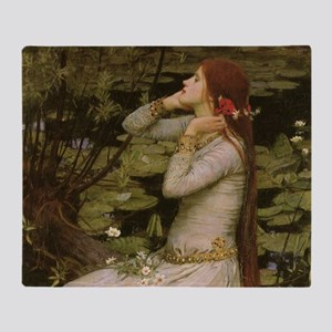 Ophelia by JW Waterhouse Throw Blanket
