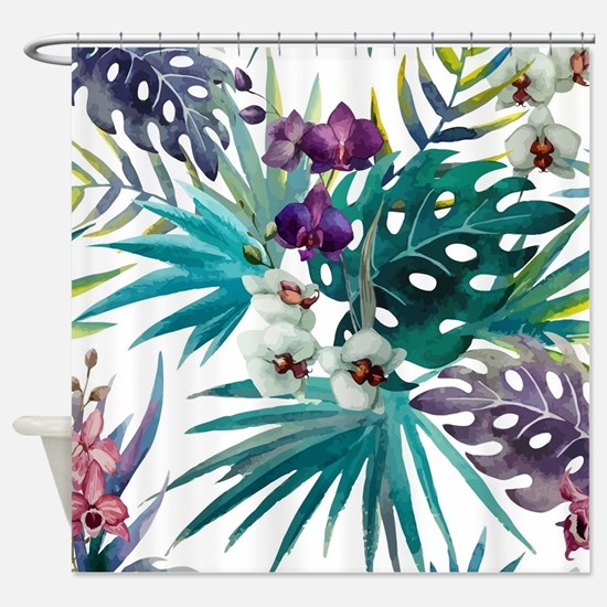 Cute Purple Shower Curtain