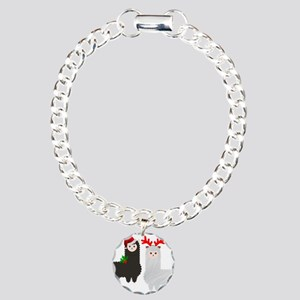 christmas reindeer alpac Charm Bracelet, One Charm