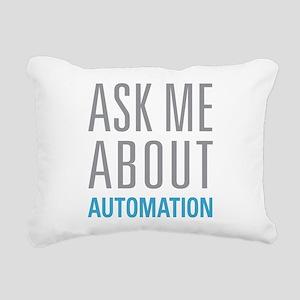 Ask Me Automation Rectangular Canvas Pillow