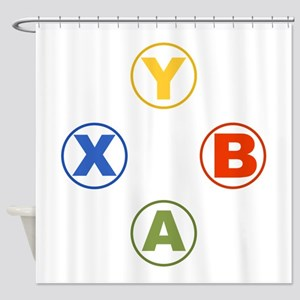 Xbox Buttons Shower Curtain