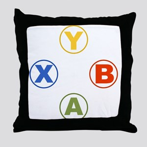 Xbox Buttons Throw Pillow