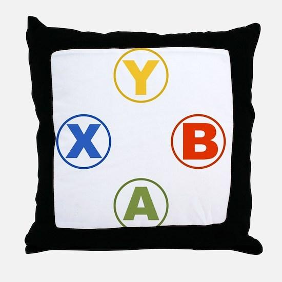 Xbox Buttons Throw Pillow