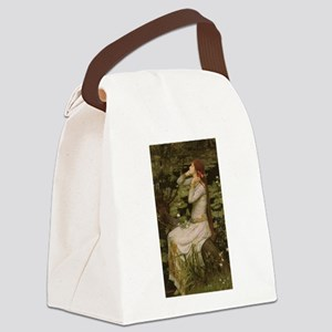 Ophelia by JW Waterhouse Canvas Lunch Bag