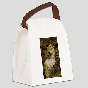 Ophelia by JW Waterhouse Canvas Lunch Bag