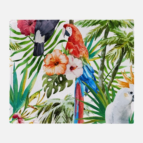 Unique Tropical bird Throw Blanket