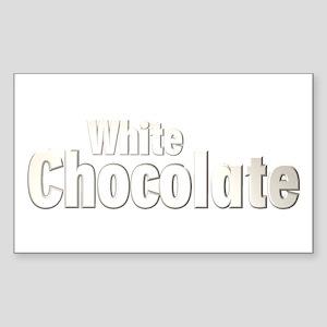 White Chocolate Rectangle Sticker