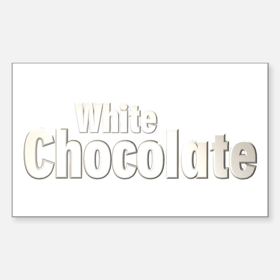 White Chocolate Rectangle Decal
