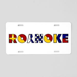 Nautical Roanoke Aluminum License Plate