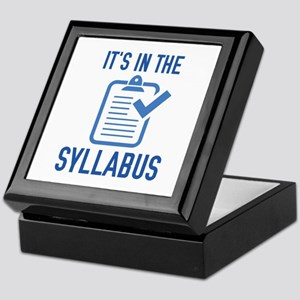 It's In The Syllabus Keepsake Box
