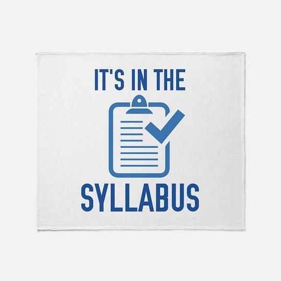 It's In The Syllabus Stadium Blanket