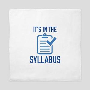 It's In The Syllabus Queen Duvet