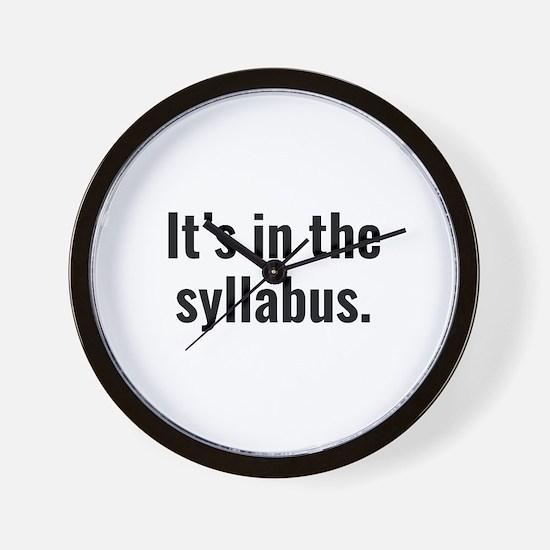 It's In The Syllabus Wall Clock