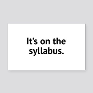 It's On The Syllabus Rectangle Car Magnet