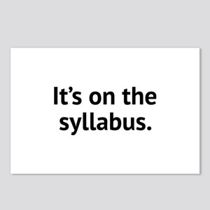 It's On The Syllabus Postcards (Package of 8)