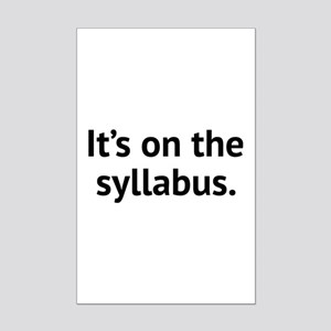 It's On The Syllabus Mini Poster Print