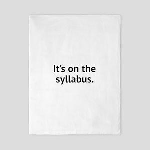 It's On The Syllabus Twin Duvet