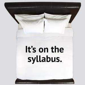 It's On The Syllabus King Duvet
