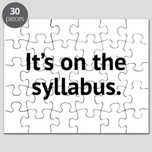 It's On The Syllabus Puzzle