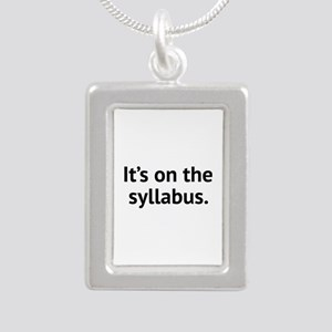 It's On The Syllabus Silver Portrait Necklace