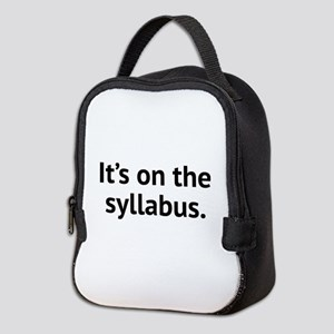It's On The Syllabus Neoprene Lunch Bag