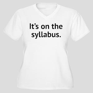 It's On The Syllabus Women's Plus Size V-Neck T-Sh