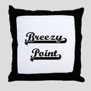 Breezy Point Classic Retro Design Throw Pillow