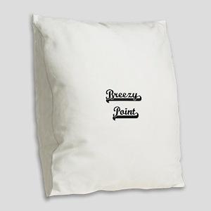 Breezy Point Classic Retro Des Burlap Throw Pillow