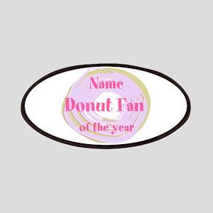 Funny Donut Fan Patch