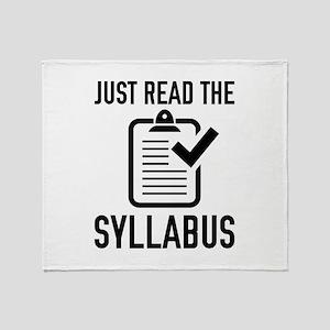Just Read The Syllabus Stadium Blanket