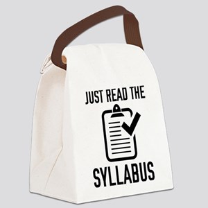 Just Read The Syllabus Canvas Lunch Bag