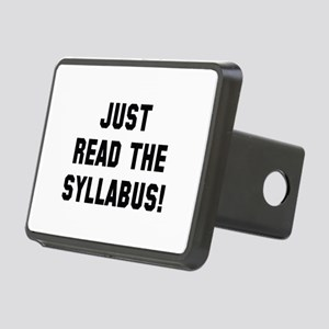 Just Read The Syllabus Rectangular Hitch Cover