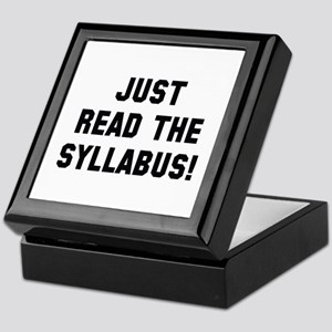 Just Read The Syllabus Keepsake Box