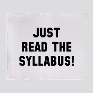 Just Read The Syllabus Stadium Blanket