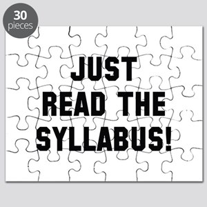 Just Read The Syllabus Puzzle